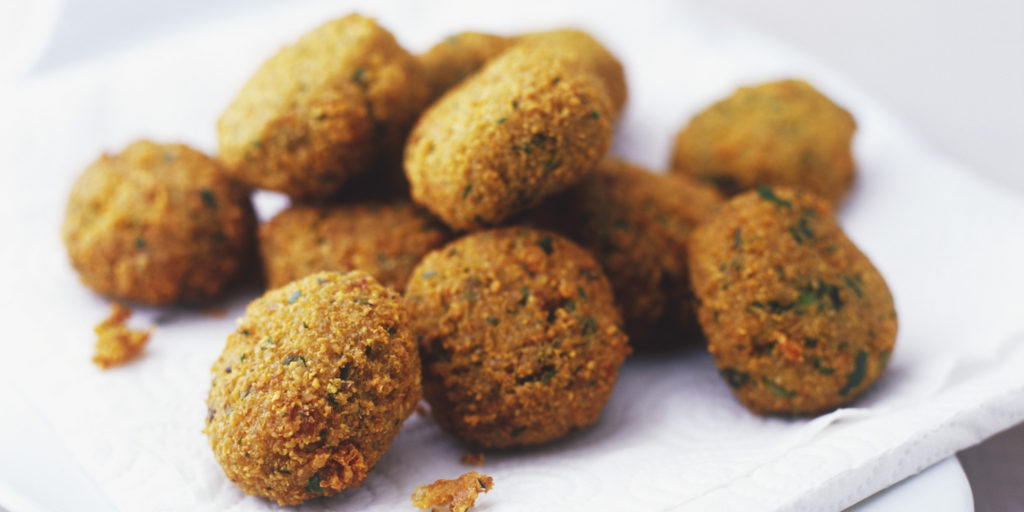 Falafel balls, close up